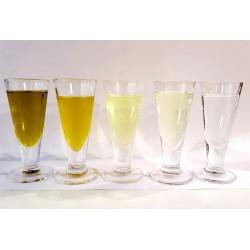 Jak se mění barva u silně ozonovaného olivového oleje s množstvím ozonu v oleji.