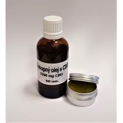 CBD konopný olej 2000 mg CBD/50 ml. Full Spektrum + konopná mast